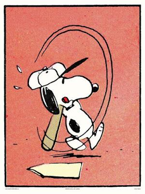 Peanuts Baseball Screen Prints by Charles Schulz x Mondo