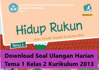 Download Soal Ulangan Harian Tema 1 Kelas 2 Kurikulum 2013 Revisi 2018