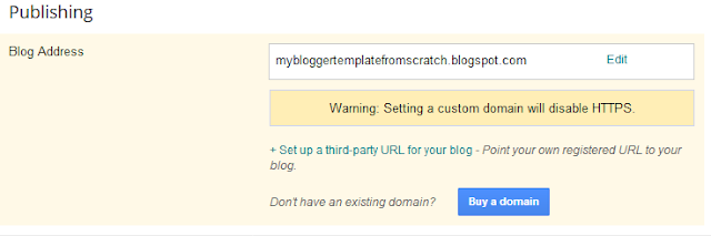 What is bad about Blogger : Blogger Does Not Support HTTPS for Custom Domain