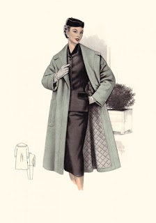 vintage art,vintage fashion,vintage coat,vintage fashion,illustration,1950s,Vintage clothing