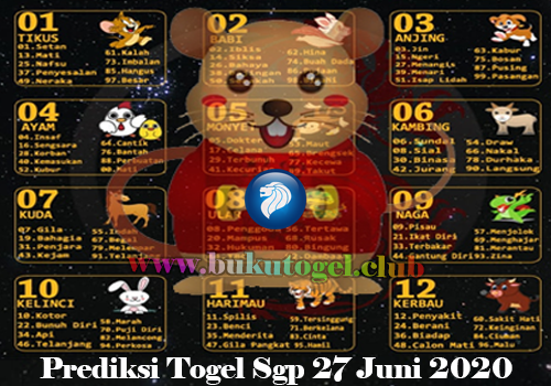 PREDIKSI TOGEL SINGAPURA 27 JUNI 2020