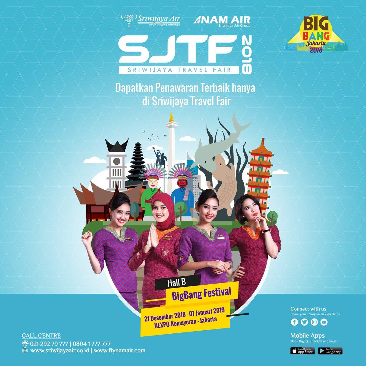 #SriwijayaAir - Promo Event Sriwijaya Travel Fair 2018 (21 Des - 01 Jan 2019)