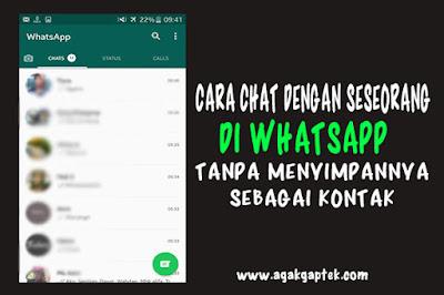 Cara Chat Dengan Seseorang DI WhatsApp Tanpa Menyimpan Menjadi Kontak