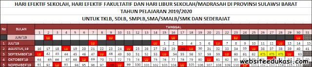 Kalender Pendidikan Sulawesi Barat Tahun 2019/2020