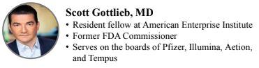 Scott Gottlieb former FDA commissioner