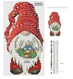 Gnomi a cross stitch per tutte le stagioni