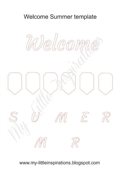 Template Insegna Coastal: bandierine e scritta Welcome Summer - MLI
