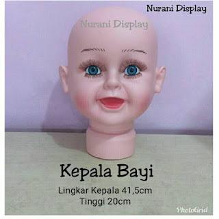 Patung Manekin Kepala Bayi