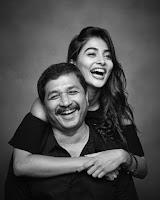 Pooja Hegde with her father Manjunath Hegde