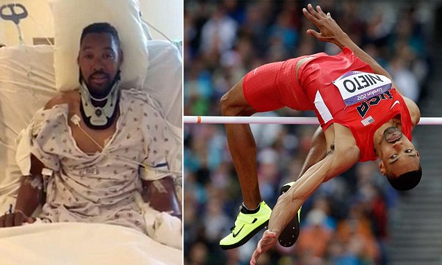I Could Still Feel My Body But I Couldnt Move Former Us Olympic High Jumper Who Was Paralysed Attempting To Do A Backflip Explains How He Is Lucky To Be