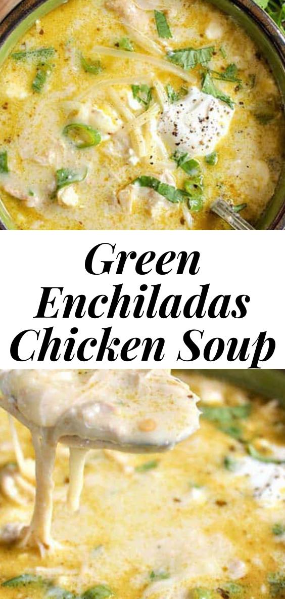 GREEN ENCHILADAS CHICKEN SOUP (KETO SLOW COOKER MEXICAN SOUP)