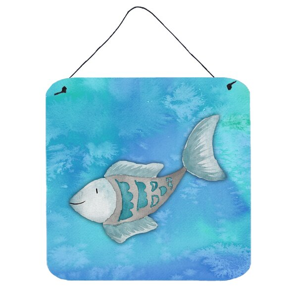 Fish Square Aluminum Wall Decor
