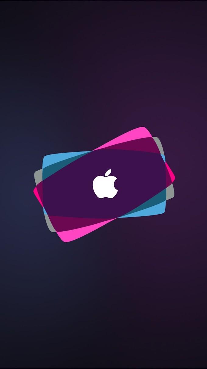 Wallpaper iPhone Apple Neon