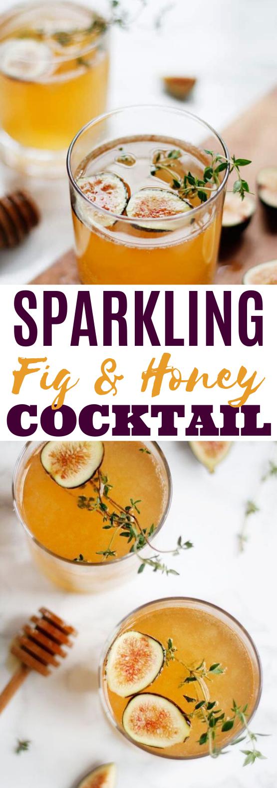 Sparkling Fig & Honey Cocktail #drinks #cocktails #alcohol #brunch #beverages