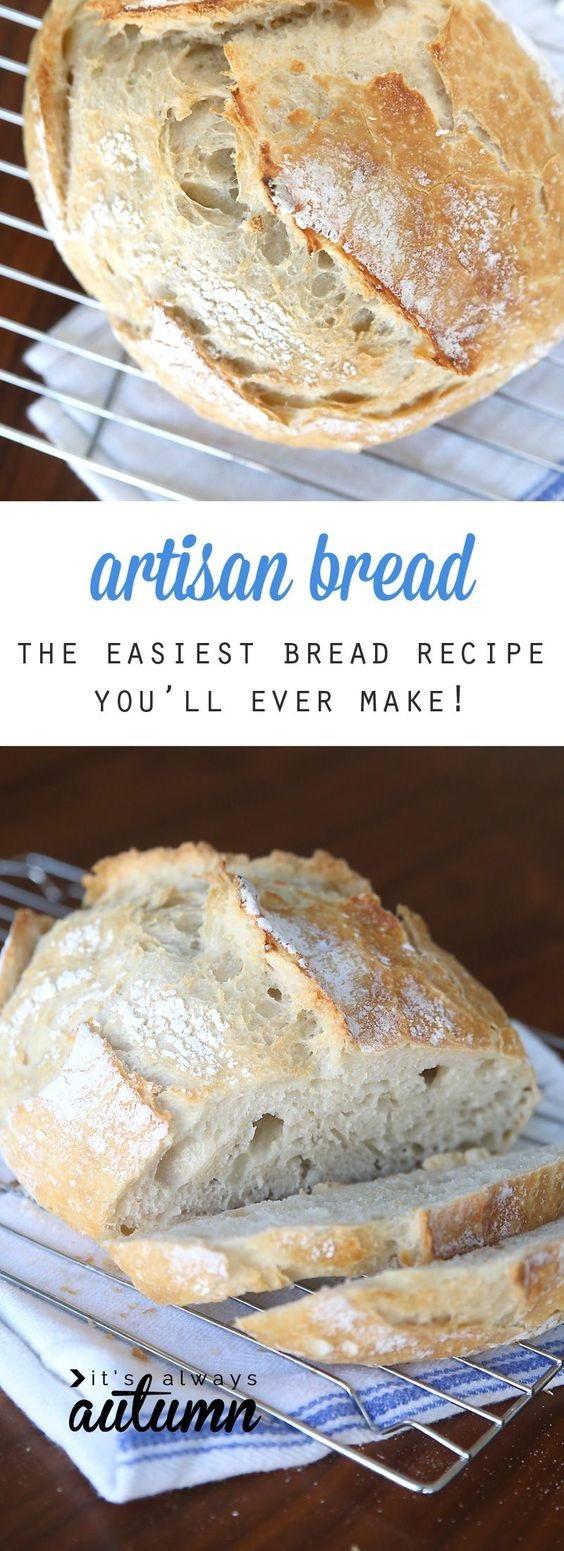 4 Ingredient Easy Artisan Bread