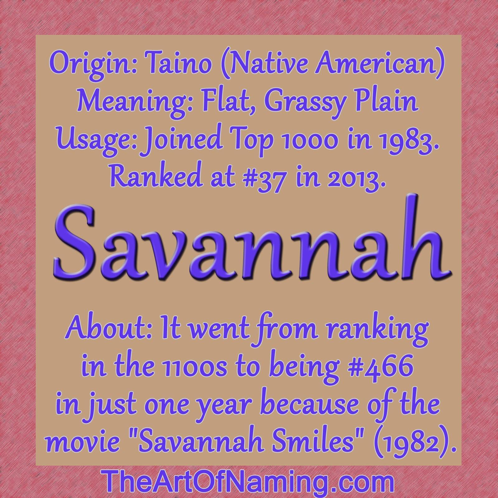 The Art of Naming: Savannah