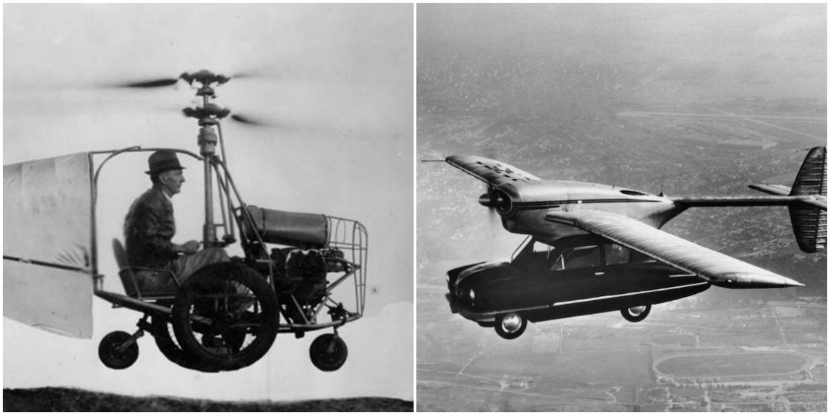 Vintage Photos Of 12 Cool Flying Cars That Really Existed In The