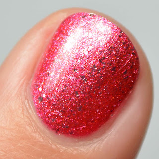 red chrome nail polish
