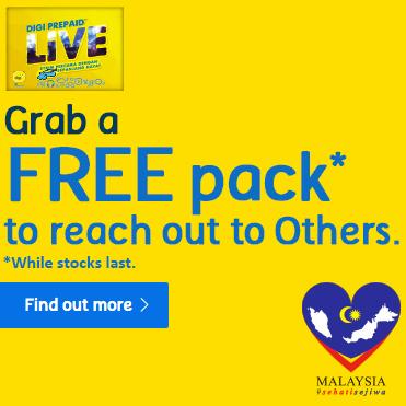 FREE Digi Prepaid LiVE sim packs