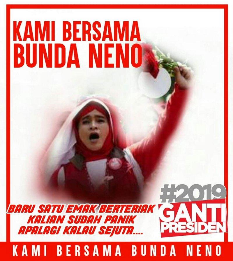 Tanda Kemenangan #2019GantiPresiden dari Batam, Baru 1 Emak Aja Sudah Bikin Gentar