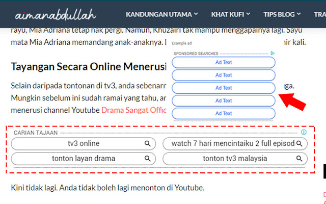 Cara Pasang Iklan Adsense Jenis Link Ads Di Blog Untuk Tahun 2020