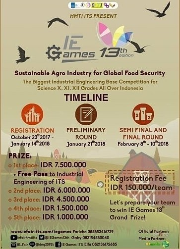 Event IE Games 13th Edition 2018 Peserta SMA Sederajat
