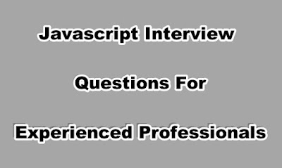 Javascript Interview Questions For Experienced Professionals