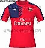 Berita bocoran jersey training Arsenal terbaru musim 2015/2016