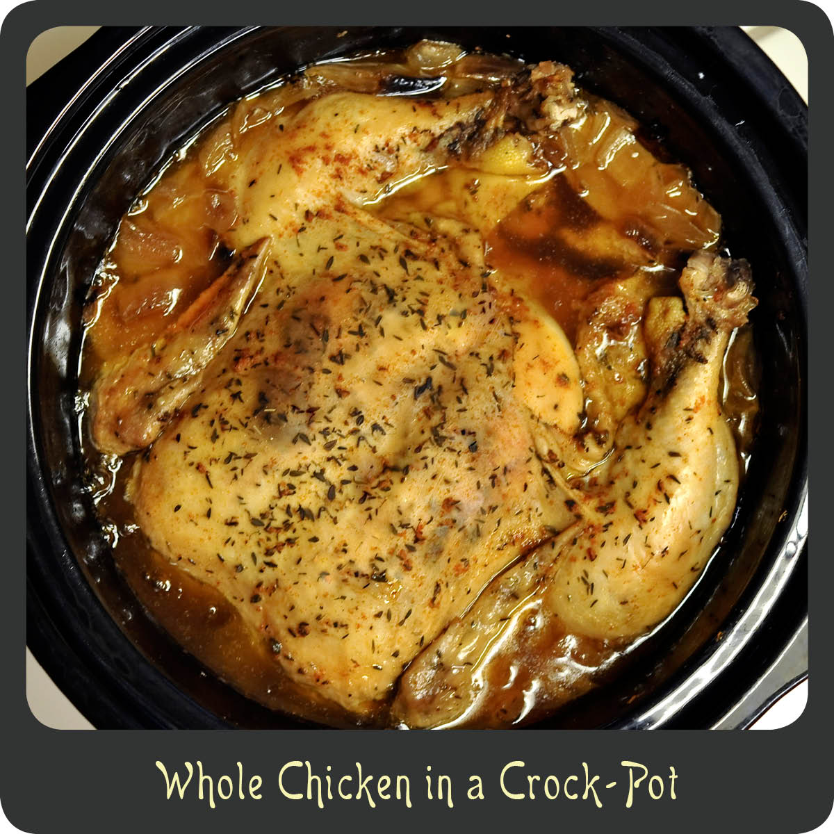 Feb 18,  · So, in honor of warmer days to come, I thought I'd share a fantastically easy recipe for Crock Pot Whole BBQ Chicken. You get all the flavor of that good ole summertime BBQ but you don't need to go outside and fire up a grill.5/5(7).