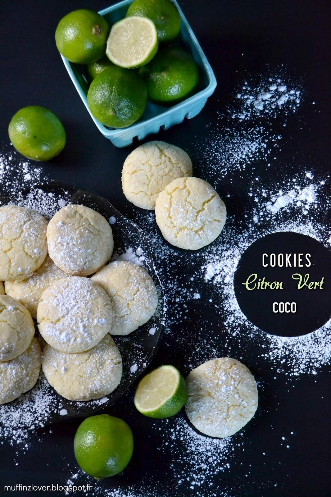 Recette cookies citron vert et coco - muffinzlover.blogspot.fr