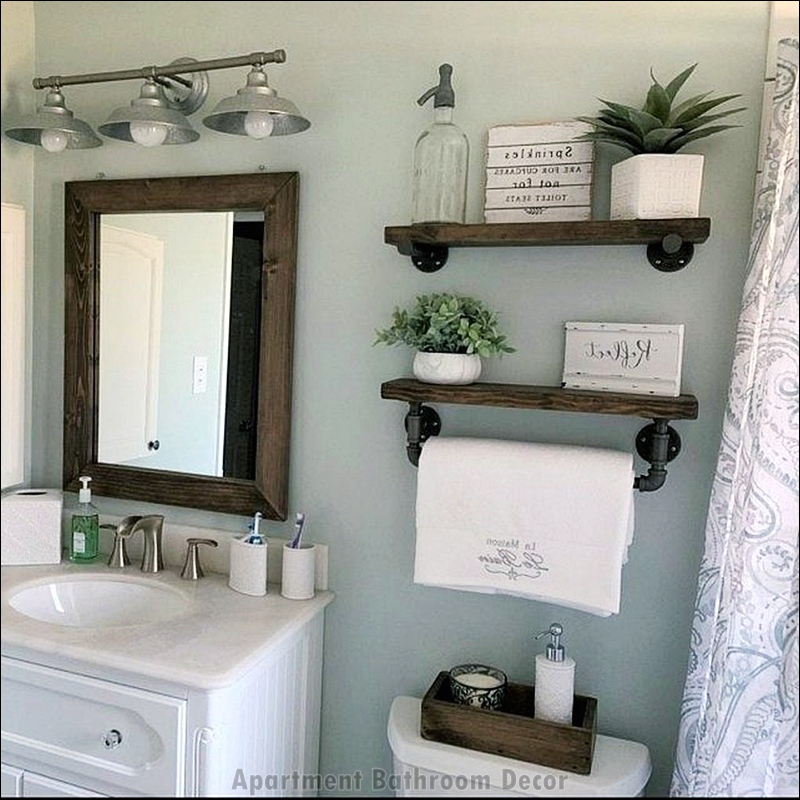 Cool and Fascinating Apartment Bathroom Decor Ideas