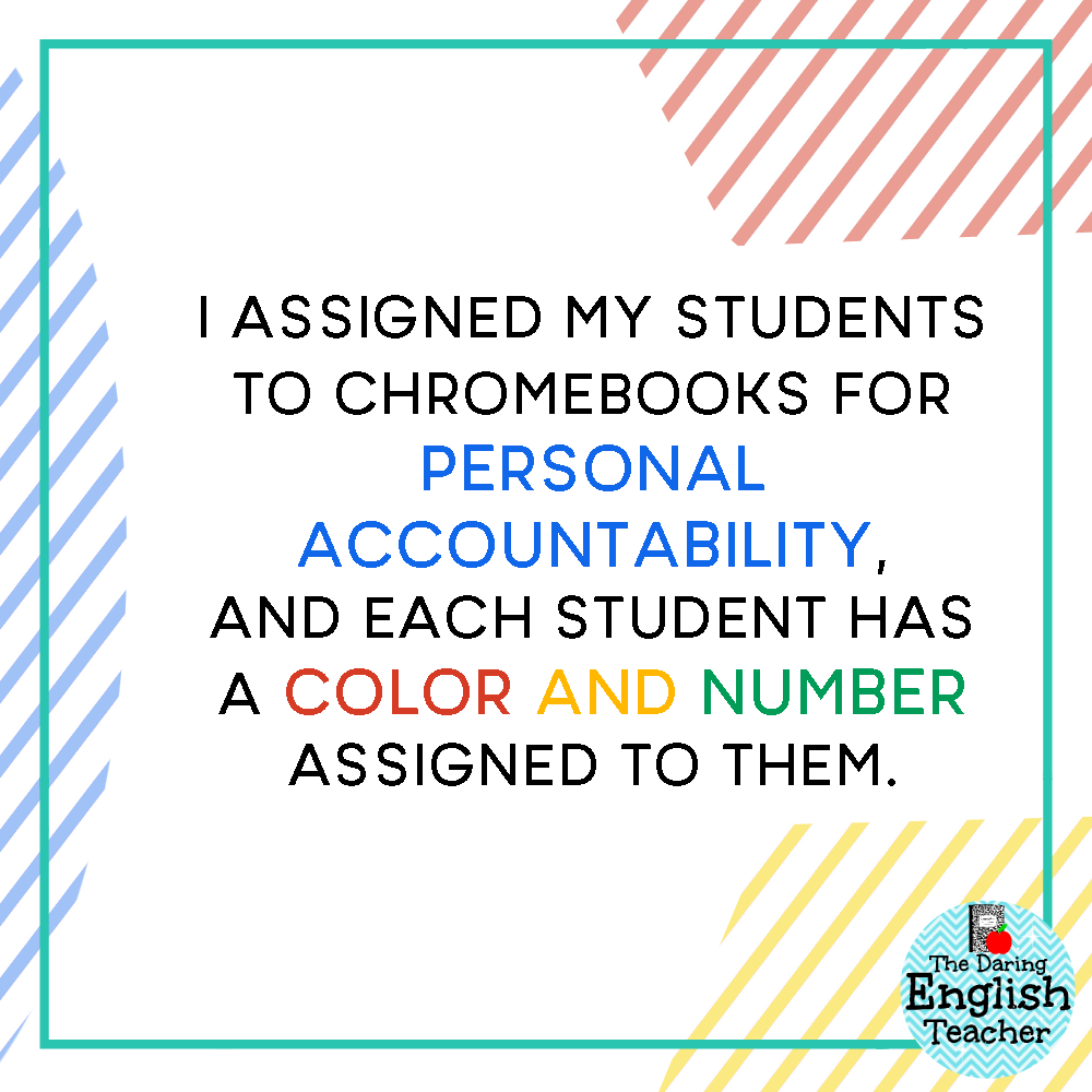 Chromebook Storage and Organization in the Secondary ELA