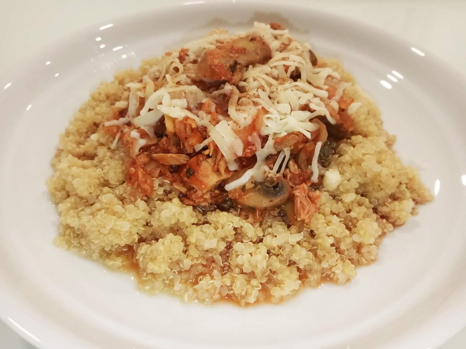 Quinoa com atum