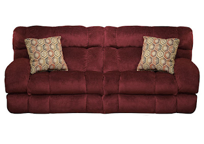 burgundy Catnapper reclining sofa
