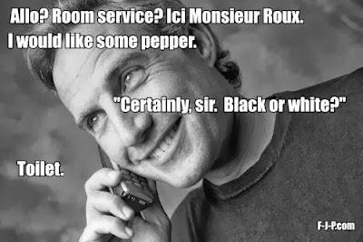 Funny room service joke picture