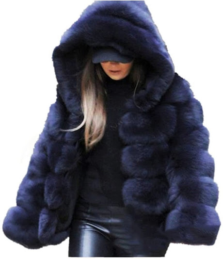 Thick Faux Fur Jackets Coats With Hood