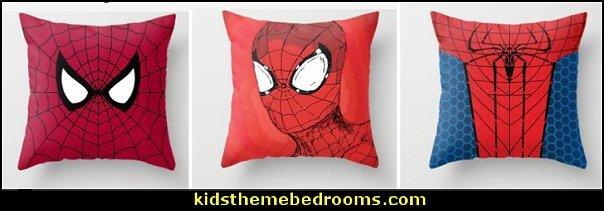 spiderman bedding spiderman throw pillows RED SPIDER Throw Pillow spiderman bedroom decor