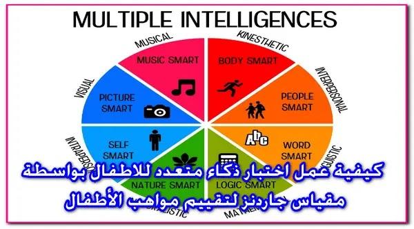 كيفية عمل اختبار ذكاء متعدد للاطفال بواسطة مقياس جاردنز لتقييم مواهب الأطفال