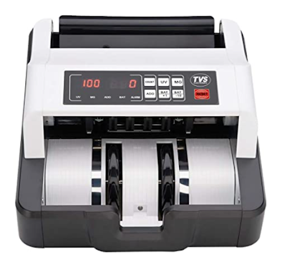 TVS Electronics Cash Counting Machine With Fast Counting Speed and Detects Fake Notes