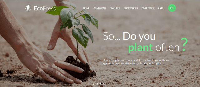 Best Nonprofit Environment WordPress Themes With Donation System | Eco Press