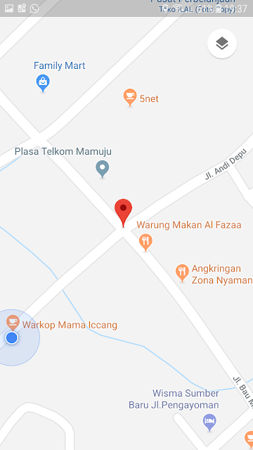 Foto Google Map Kantor IJS (Ikatan Jurnalis Sulbar) Mamuju.