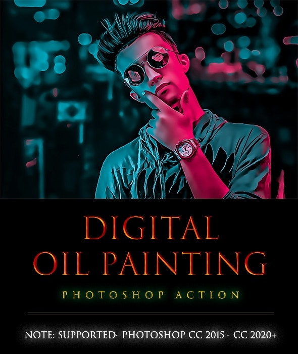 Digital OiL painting[PhotoShop][Action][28368497]