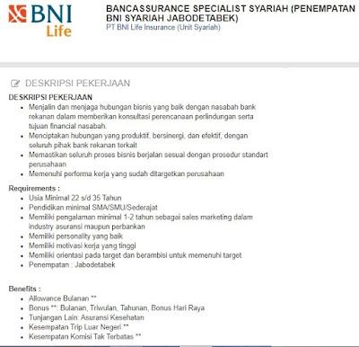Daftar Lowongan Kerja Bank BNI Tulungagung Oktober Terbaru 2020