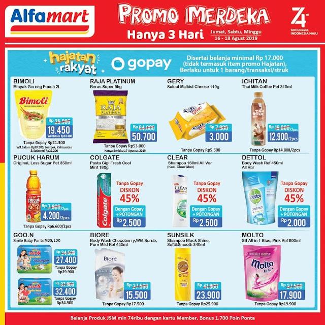 #Alfamart - #Katalog Promo Merdeka Hajatan GOPAY (16 - 18 Agustus 2019)