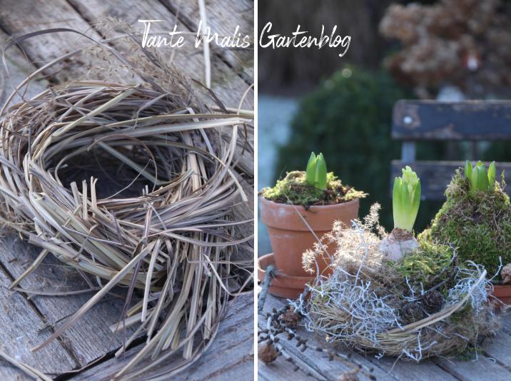 Nest aus Gras selbst gemacht