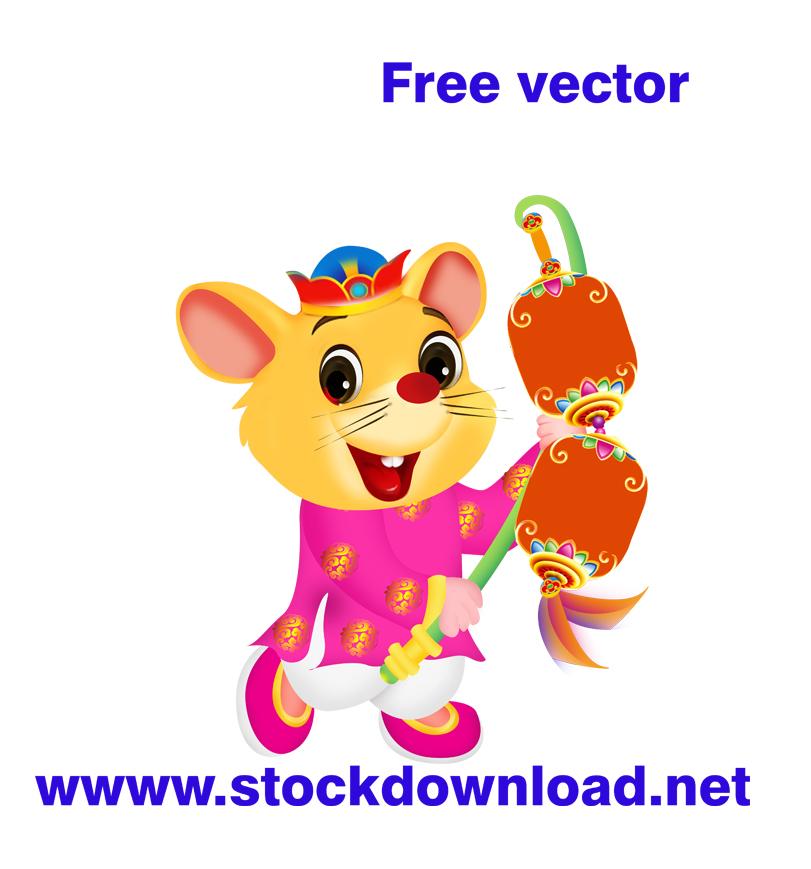 Tải vector con chuột vàng