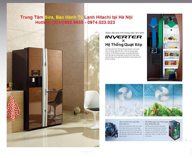Giá thay bóng sấy, quạt gió, cảm biến nhiệt độ tủ lạnh Hitachi