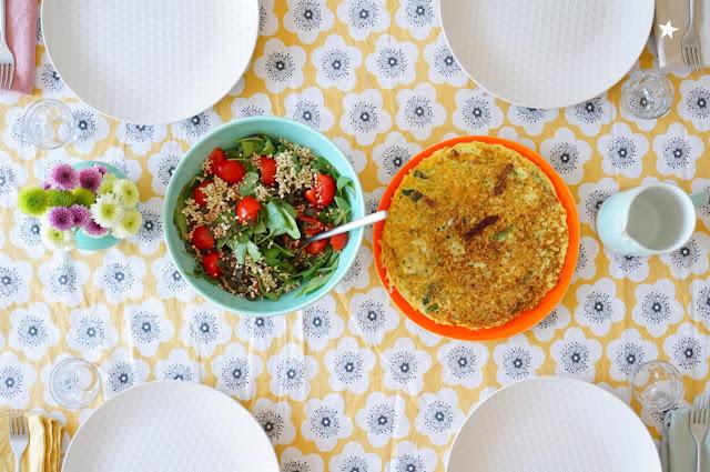 omelette courgette tomates séchées veggie manger sain sans gluten sans lactose