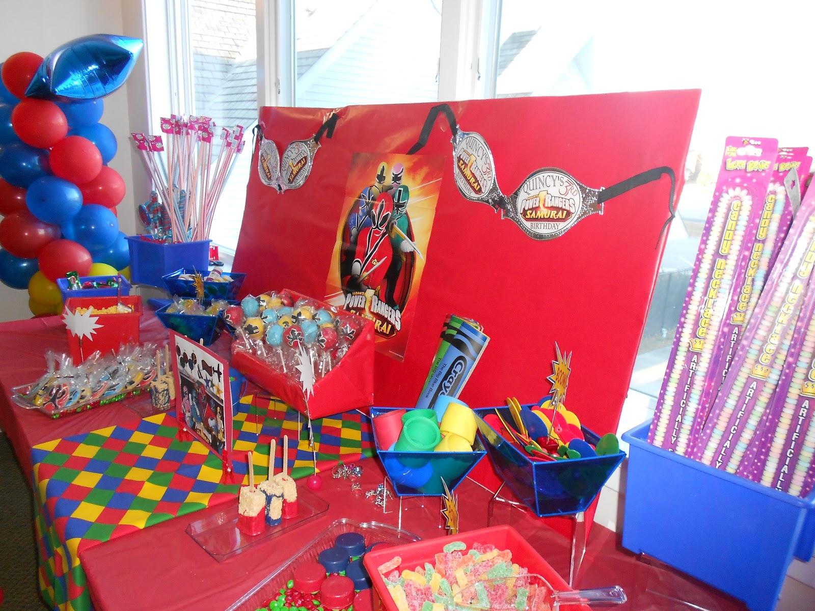 Birthday Birthday Party Ideas: Leslie P's Creations: Power Ranger Birthday