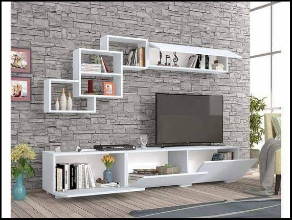 wall mount tv shelf